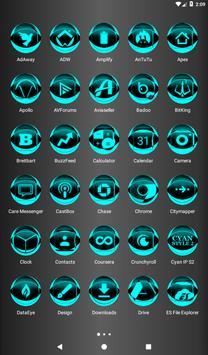 Cyan Icon Pack Style 2 screenshot 17