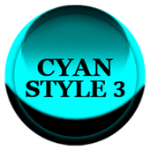 Cyan Icon Pack Style 3 icon