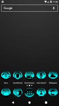 Cyan Icon Pack Style 3 poster