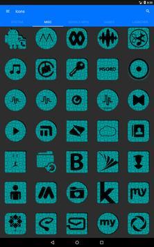 Cyan Puzzle Icon Pack apk screenshot