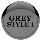 Grey Icon Pack Style 1 v3.0 Free icon
