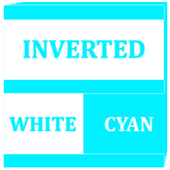 Inverted White and Cyan Icon Pack v2 icon