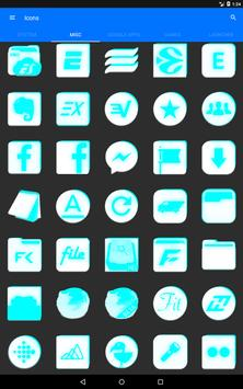 Inverted White and Cyan Icon Pack v2 screenshot 11