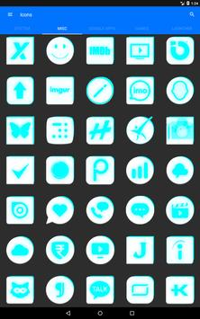 Inverted White and Cyan Icon Pack v2 screenshot 13