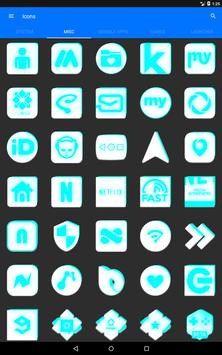 Inverted White and Cyan Icon Pack v2 screenshot 15