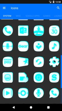 Inverted White and Cyan Icon Pack v2 screenshot 5