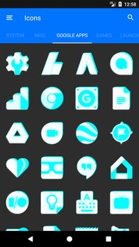 Inverted White and Cyan Icon Pack v2 screenshot 6