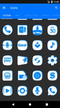 Inverted White and Blue Icon Pack v2 screenshot 5