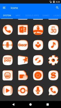 Inverted White and Orange Icon Pack v2 screenshot 5