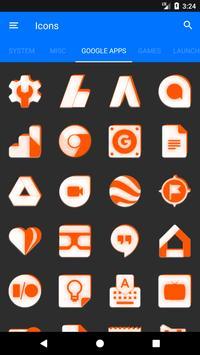 Inverted White and Orange Icon Pack v2 screenshot 6