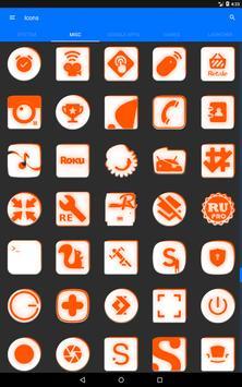 Inverted White and Orange Icon Pack v2 screenshot 13