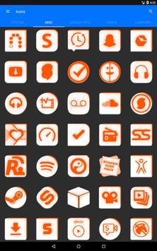Inverted White and Orange Icon Pack v2 screenshot 14