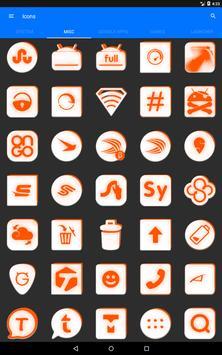 Inverted White and Orange Icon Pack v2 screenshot 15