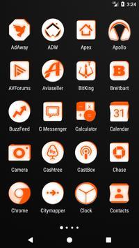 Inverted White and Orange Icon Pack v2 screenshot 1