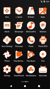 Inverted White and Orange Icon Pack v2 screenshot 3