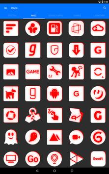Inverted White and Red Icon Pack v2 apk screenshot