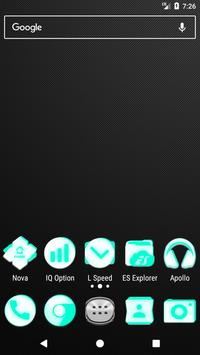 Inverted White and Teal Icon Pack v2 poster