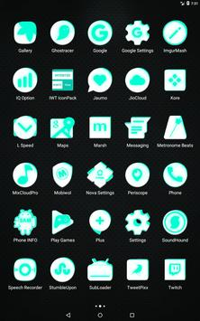 Inverted White and Teal Icon Pack v2 screenshot 10