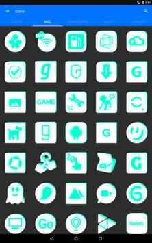 Inverted White and Teal Icon Pack v2 screenshot 11