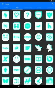 Inverted White and Teal Icon Pack v2 screenshot 12
