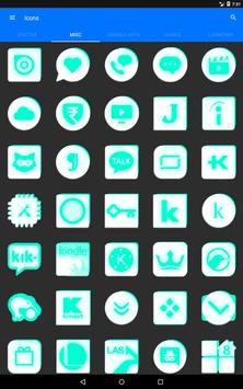 Inverted White and Teal Icon Pack v2 screenshot 13