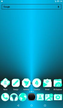 Inverted White and Teal Icon Pack v2 screenshot 16