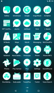 Inverted White and Teal Icon Pack v2 screenshot 18