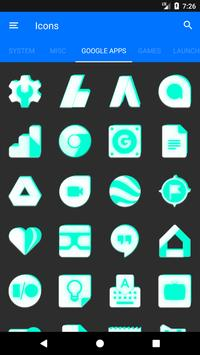 Inverted White and Teal Icon Pack v2 screenshot 6