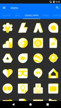Inverted White and Yellow Icon Pack v2 screenshot 6