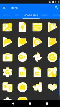 Inverted White and Yellow Icon Pack v2 screenshot 7