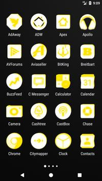 Inverted White and Yellow Icon Pack v2 screenshot 1