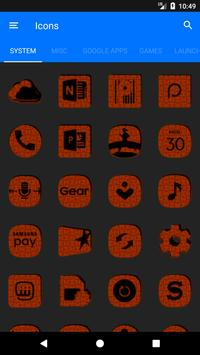 Orange Puzzle Icon Pack screenshot 5