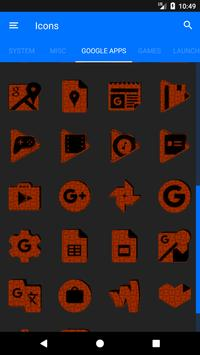 Orange Puzzle Icon Pack screenshot 7