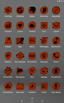 Orange Puzzle Icon Pack screenshot 10