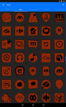 Orange Puzzle Icon Pack screenshot 12