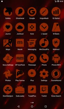 Orange Puzzle Icon Pack screenshot 18