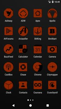 Orange Puzzle Icon Pack screenshot 1