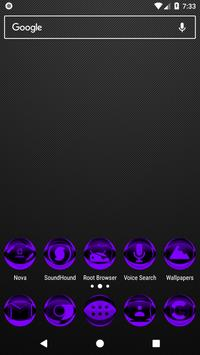 Purple Icon Pack Style 2 v3.0 Free poster