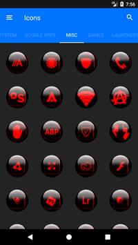 Red Glass Orb Icon Pack v3.1 apk screenshot