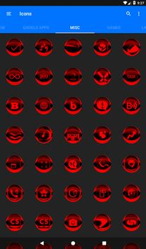 Red Icon Pack Style 2 v2.1 apk screenshot