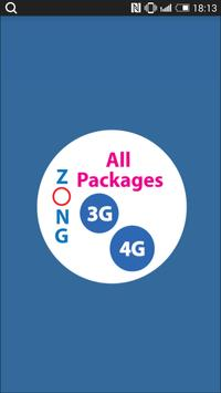 All Zong Packages 2018 Free poster