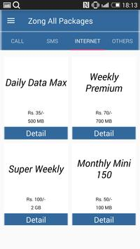 All Zong Packages 2018 Free screenshot 2