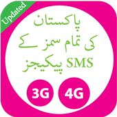 Pakistan All Sim SMS Packages 2018 icon