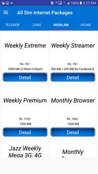 Pakistan All Sim Internet Packages 2018 screenshot 4