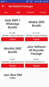 My Mobilink Packages screenshot 1