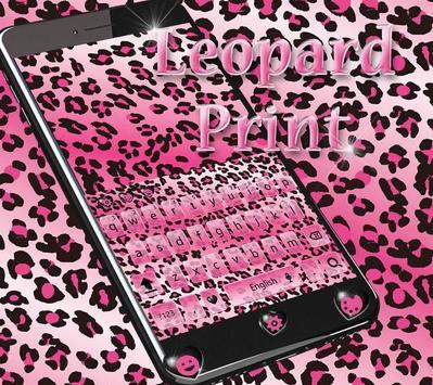 Rose leopard Keyboard Theme poster