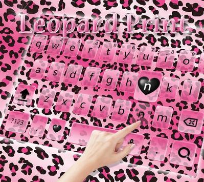Rose leopard Keyboard Theme apk screenshot
