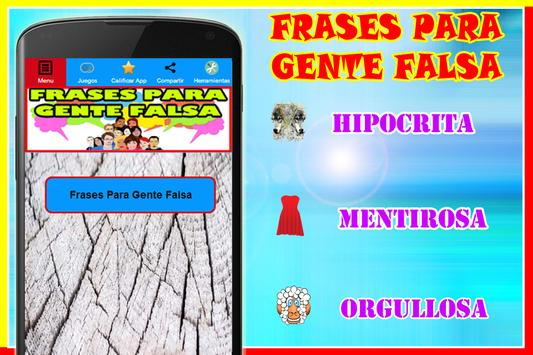Frases Para Gente Falsa For Android Apk Download