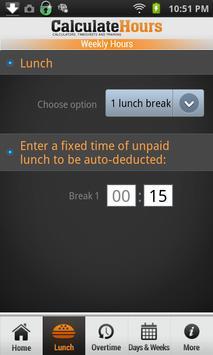 time card calculator timeclock apk screenshot