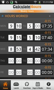 time card calculator timeclock apk screenshot